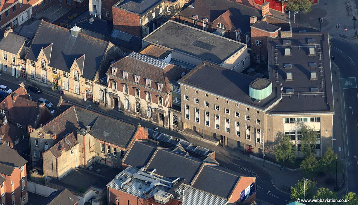 Central Library, Prospect Street, Hull aerial photograph