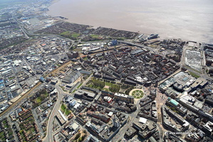 Kingston upon Hull city centre  England UK  aerial photograph