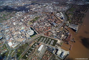 Hull Marina Kingston upon Hull aerial photograph