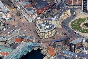 Queen Victoria Square and the Hull Maritime Museum Hul  aerial photograph