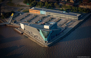 The Deep aquarium in Hull  aerial photograph