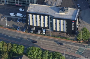 Travelodge Hull Central hotel  aerial photograph