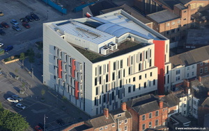 Wilberforce Health Centre in Hull UK  aerial photograph