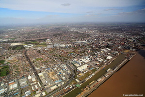 Hull Docks Kingston upon Hull Yorkshire England UK  aerial photograph