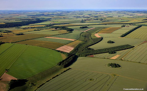 arable farming at Hog Walk near Sledmere Yorkshire England aerial photograph