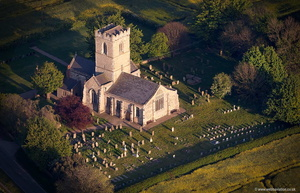 St Andrew church ,  Paull , Yorkshire  aerial photograph