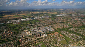Basildon Essex from the air