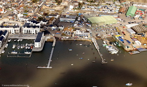 Brightlingsea Harbour  from the air
