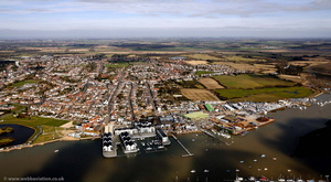 Brightlingsea from the air