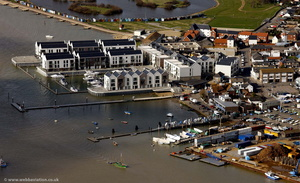 Waterside Marina, Brightlingsea from the air