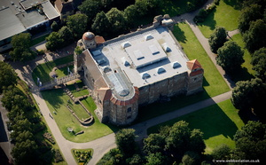 Colchester Castle from the air