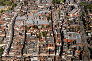 Colchester town centre from the air