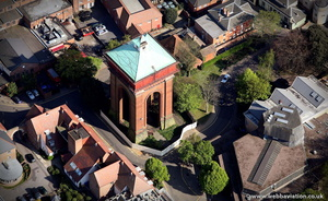 The Jumbo Water Tower ,  Balkerne Gate  Colchester  from the air