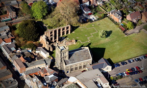 St. Botolph's Priory from the air