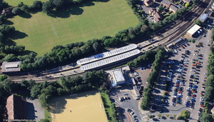 Loughton tube station from the air