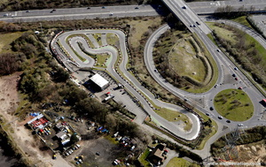 Go-kart track Grays from the air