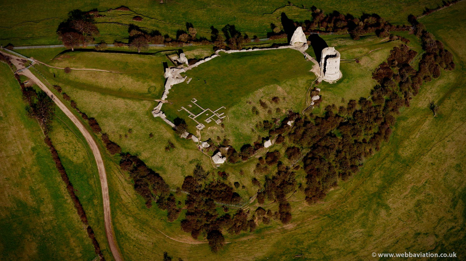 Hadleigh Castle from the air
