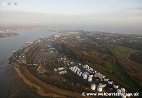Harwich  Essex England UK aerial photograph