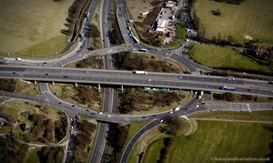 M25 Junction 28 Brook Street Interchange  from the air