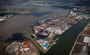 London Container Terminal  from the air