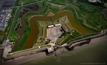 Tilbury Fort from the air