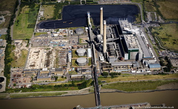 Tilbury power station from the air