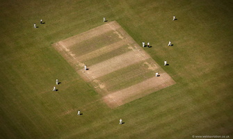 Bourton Vale Cricket Club Bourton-on-the-Water  aerial photograph
