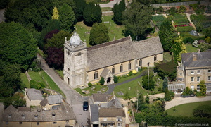 St. Lawrence's Church, Bourton-on-the-Waterr  aerial photograph