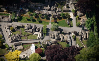 Bourton-on-the-Water Model Village aerial photograph