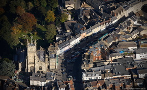 Cirencester  from the air