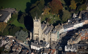 St. John the Baptist's Church Cirencester  from the air