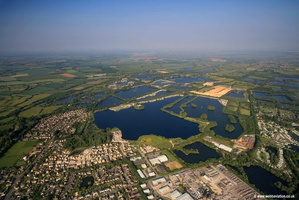 Cotswold Water Park aerial photograph