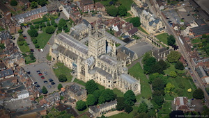 Gloucester Cathedral aerial photograph