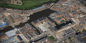 Gloucester Docks  from the air