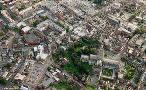 Gloucester city centre from the air