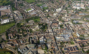 Gloucester  city centre aerial photograph