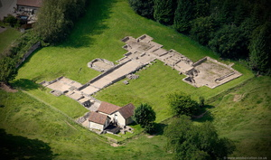 Great Witcombe Roman Villa from the air