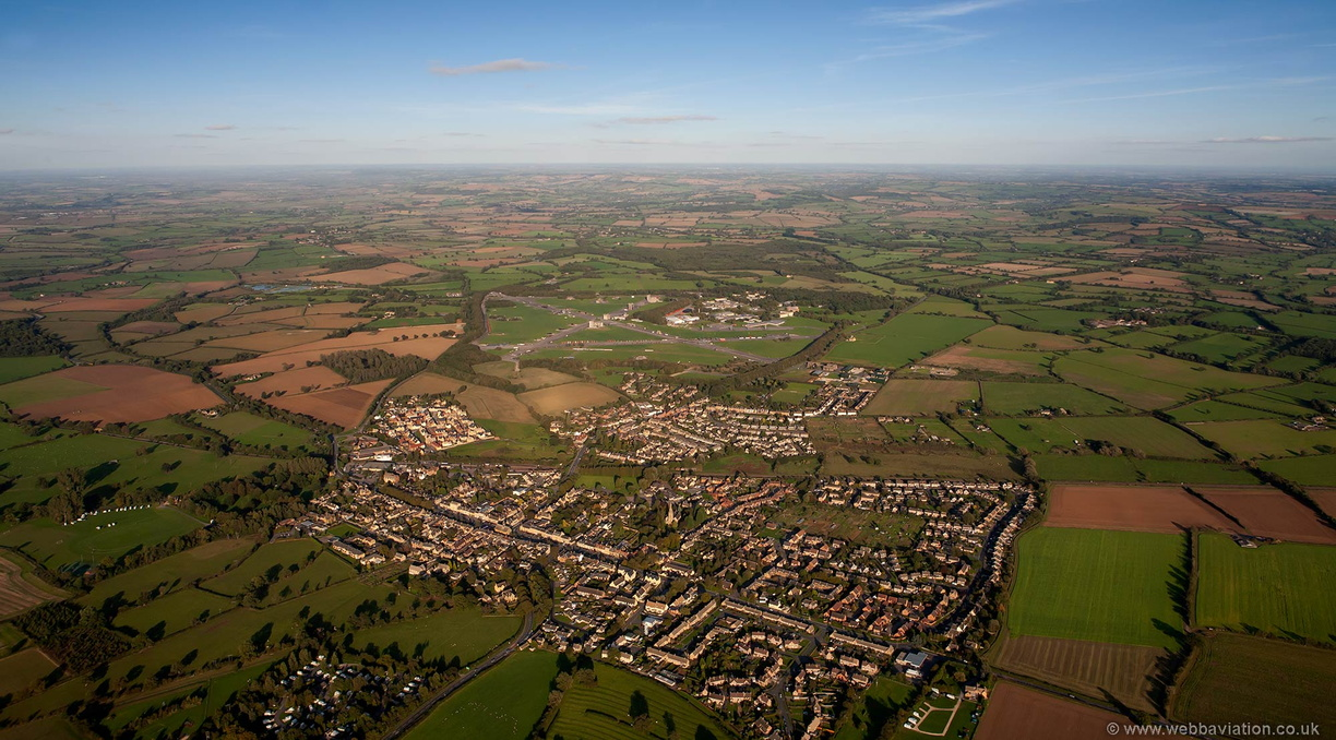 Moreton-in-Marsh aerial photograph