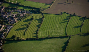 medieval ridge and furrow field patterns at Moreton-in-Marsh  aerial photograph