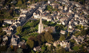 Church of St Mary Painswick aerial photograph