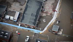 Walham Substation during the great River Severn floods of 2007 from the air