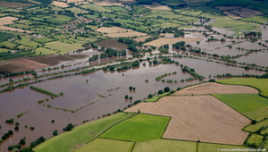 Ashleworth Gloucestershire during the great River Severn floods of 2007 from the air