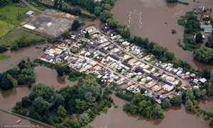 Gloucester  during the great River Severn floods of 2007  aerial photograph