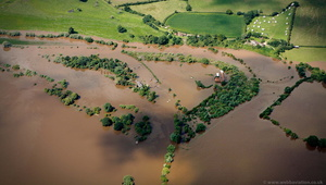 Upper Lode Lock during the great floods of 2007 from the air