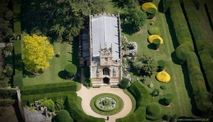 St Mary's Church at Sudeley Castle  aerial photograph