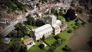 Tewkesbury Abbey aerial photograph