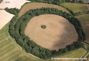 Bury Hill hillfort  Andover Hampshire  England UK aerial photograph