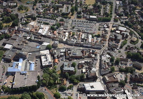 Andover Hampshire  England UK aerial photograph