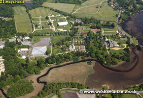 the National Motor Museum Beaulieu England UK aerial photograph