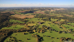 Highclere Castle aerial photograph